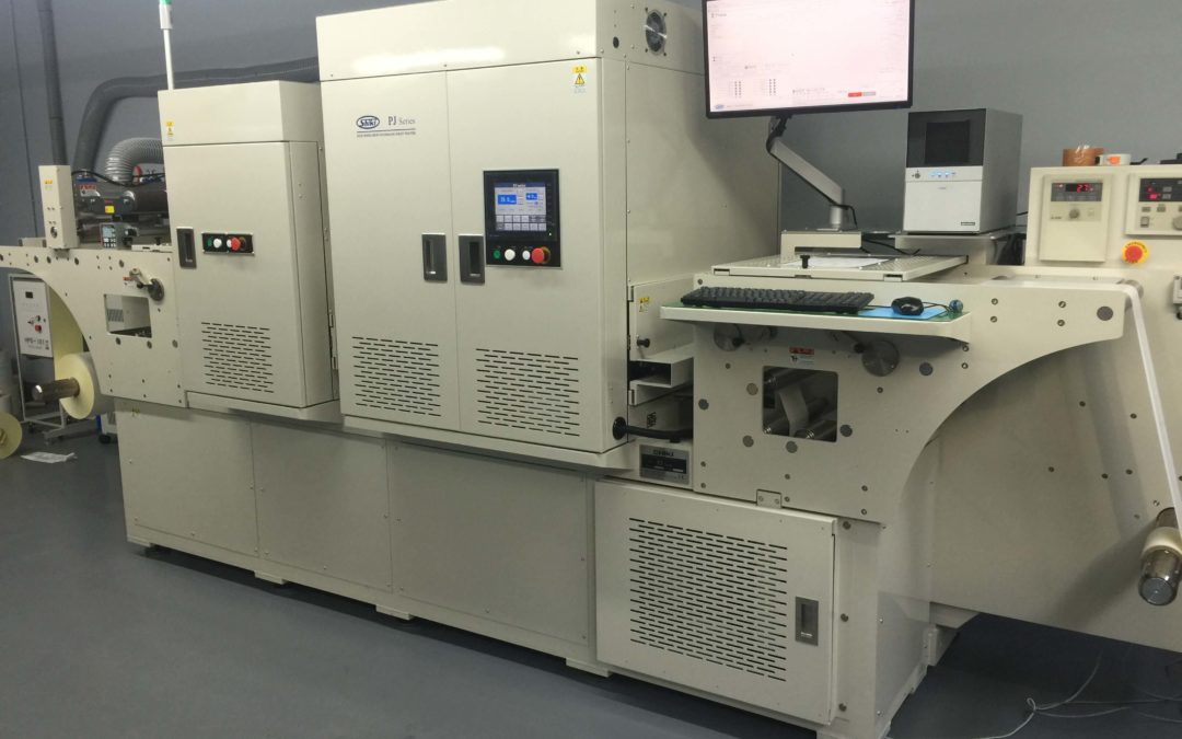 Cyfrowa maszyna SHIKI dodruku etykiet wdrukarni  EKOROL wPoznaniu.